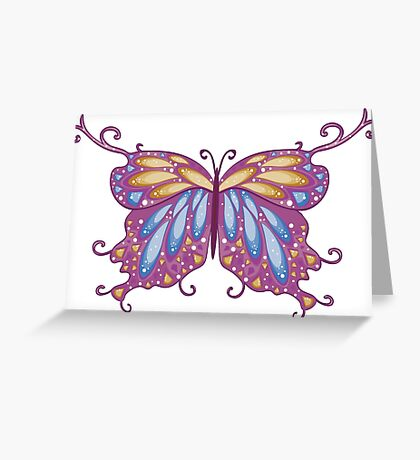 Abstract Fantasy Butterfly 11 Greeting Card