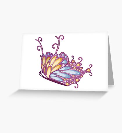 Abstract Fantasy Butterfly 12 Greeting Card