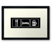 Food Sleep Beer Framed Print