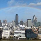 Londons one and only rainbow Panorama by Nigel Plant