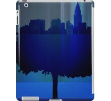 Point of view on the city blue iPad Case/Skin
