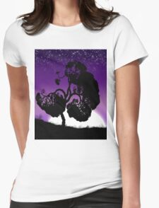 Purple sunset Womens Fitted T-Shirt