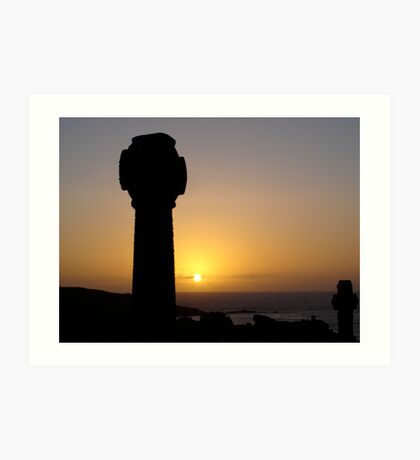 Sunset From Barnoon Cemetery, St Ives Art Print