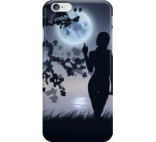 Silhouette under moon iPhone Case/Skin