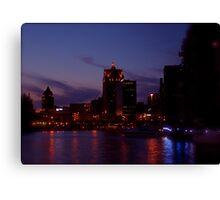 Milwaukee at Night Canvas Print