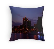 Milwaukee at Night Throw Pillow