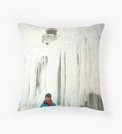 The Year Lake Michigan Froze Over Throw Pillow