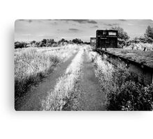 Infra Red of Old Abandoned Train Cars Canvas Print