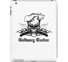 Chef Skull 1: Culinary Genius 3 Black Flames iPad Case/Skin
