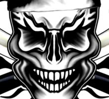 Chef Skull 1: Culinary Genius 3 Black Flames Sticker