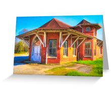 Marshallville, Georgia Train Depot Greeting Card