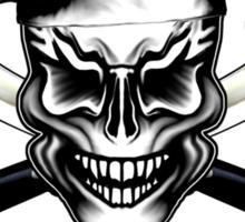Chef Skull 1: Culinary Genius 3 White Flames Sticker