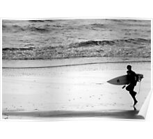 Surfer, Praa Sands, South Cornwall UK Poster