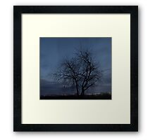 HDR Composite - Twilight Tree Silhoutte Framed Print