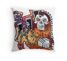 Abstract Hands Helping Hands Throw Pillow