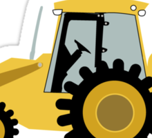 Construction Backhoe Digger Sticker