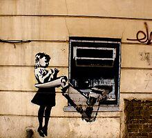 ATM - Banksy by Kiwikiwi