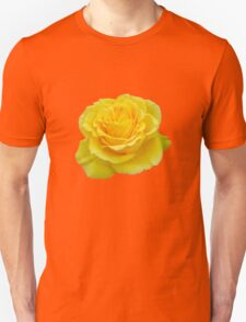 Beautiful Yellow Rose Flower on Black Background Unisex T-Shirt
