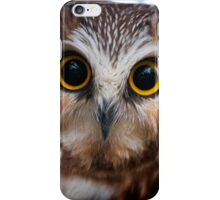 Northern Saw Whet Owl Portrait iPhone Case/Skin