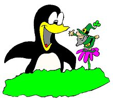 Leprechaun And Penguin by kwg2200