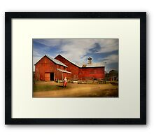 Going back to the farm Framed Print