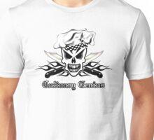 Chef Skull 2: Culinary Genius 3 black flame Unisex T-Shirt