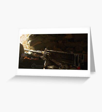 Machine Gun Nest Greeting Card
