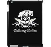 Chef Skull 2: Culinary Genius 3 white flames iPad Case/Skin