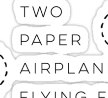Two paper airplanes flying flying Sticker