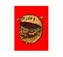 Monster Burger Art Print