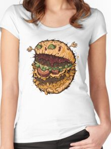 Monster Burger Women's Fitted Scoop T-Shirt