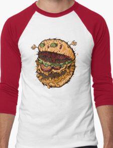 Monster Burger Men's Baseball ¾ T-Shirt
