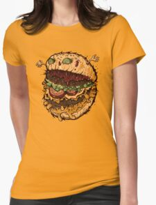 Monster Burger Womens Fitted T-Shirt