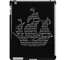 Captain Swan quotes - ship iPad Case/Skin