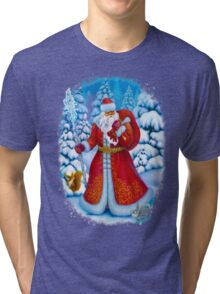 Merry Christmas with Love from Russia Tri-blend T-Shirt