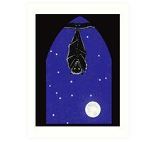 Bat in the Window Art Print