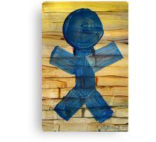 Stick Figure Sun Catcher Canvas Print