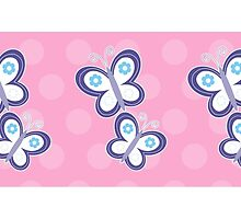 Girly Butterflies Pink and Purple Butterfly Dot by JessDesigns