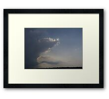 HDR Composite - Weather Shift Clear Sky to Rain Framed Print