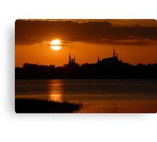 """Majic Kingdom Sunset"" Canvas Print"