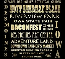 Des Moines Iowa Famous Landmarks by Patricia Lintner