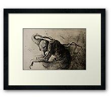 Scarfy Framed Print