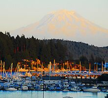 """Gig Harbor and Mt. Rainier"" by David Lee Thompson"
