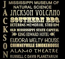 Jackson Mississippi Famous Landmarks by Patricia Lintner