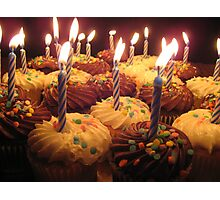 Birthday Cupcakes Photographic Print