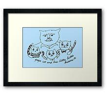 Papa Cat Framed Print