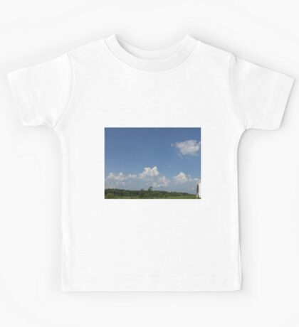 HDR Composite - Working Farm Landscape and Sky Kids Tee