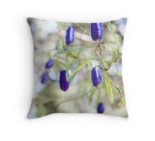 More purple berry thingys Throw Pillow