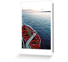 Lifeboat over Chile Greeting Card