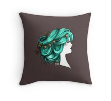 The lady cameo  Throw Pillow